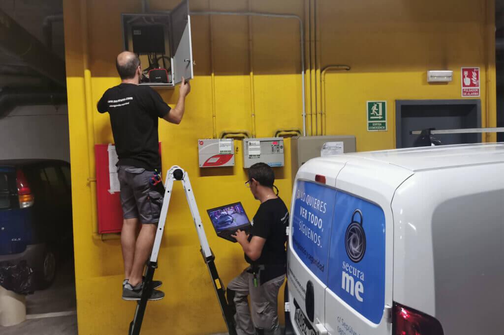 instalación videovigilancia barcelona parking