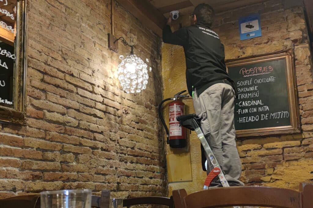 instalador cámaras videovigilancia restaurante
